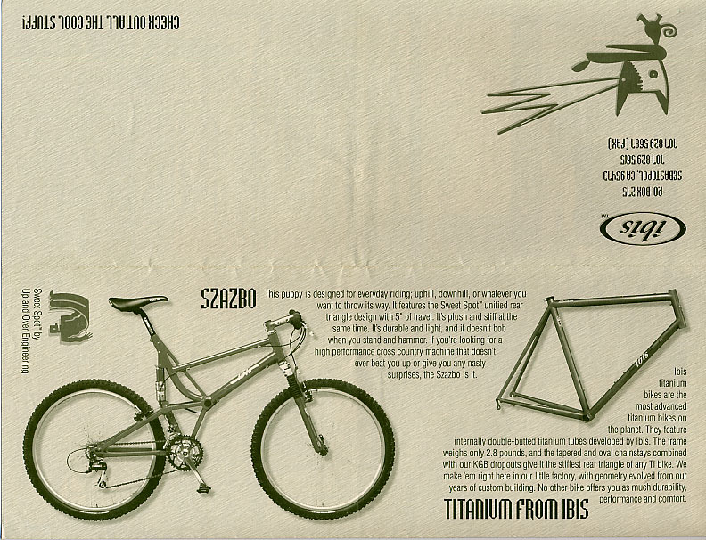Ibis Cycles Products Flyer