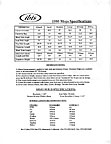 Ibis 1995 Mojo component spec sheet