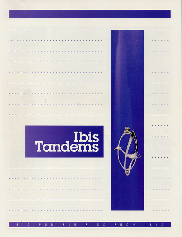 Ibis 1995 Tandems Cover