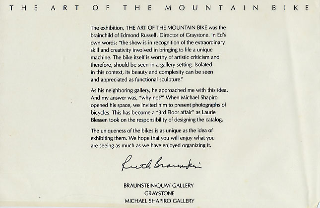 Art of the Mountain Bike - Introduction