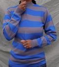Blue-Grey Long Sleeved Jersey