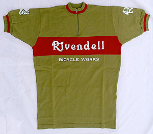 Rivendell s/s jersey - olive/red