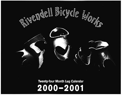 Rivendell Bicycle Works Lug Calendar Scans - click here