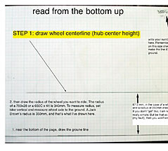 Step 1 - Draw the Wheel Centerline
