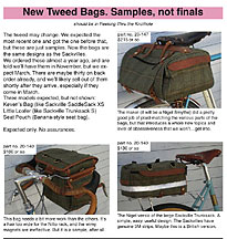 RBW PDF - Preproduction Samples of Tweed bags